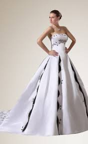 black and white wedding dresses buy black and white embroidery chapel bridal