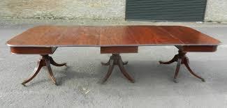 antique mahogany pedestal table original regency mahogany pedestal table