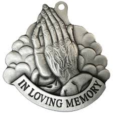 personalized pewter praying memorial or remembrance ornament