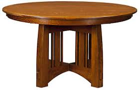 solid wood pedestal kitchen table amish mission craftsman round pedestal dining table solid wood 48