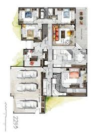Color Floor Plan Real Estate Color Floor Plan And Elevation 2 On Behance Tiny