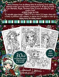 Different Color Schemes Pdf A Whimsy Girls Christmas Coloring Book Instant Download