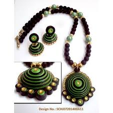 Paper Quilling Necklace Jewellery Designs