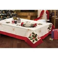 tablecloth for coffee table christmas tablecloths you ll love wayfair ca
