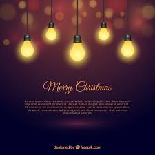 christmas lights with elegant style vector free download