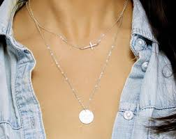 stackable necklaces layering necklace gold bar necklace name plate necklace