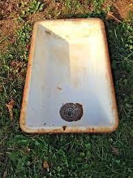 antique farmhouse sink cast iron vintage antique farmhouse double bowl porcelain earthenware laundry