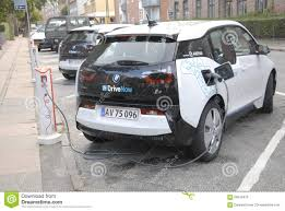 bmw denmark german bmw electric car own by arriva editorial stock image