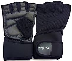 weight lifting gloves with premium leather palm and adjustable