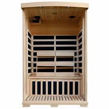 amazon com 2 person hemlock deluxe infrared sauna w 6 carbon