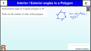 angles in a polygon gcse maths higher u0026 foundation revision exam