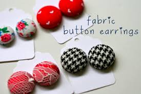 button earrings a bit of make something monday fabric button earrings