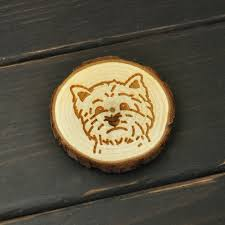 aimant cuisine westie réfrigérateur arbre tranche chien aimants en bois