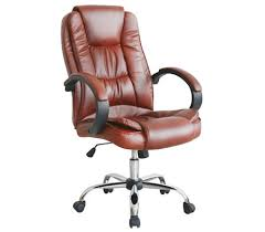 brown leather executive desk chair high back adjustable pu leather executive office chair with arm