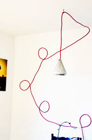 Coloured Cord Pendant Lights Colored Cord Hanging L Diy A Side Of Sweet