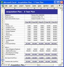 acquisition plan template acquisition program excel template