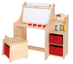 Childrens Desk And Stool Kids Activity Desk W Stool Storage Bins Paper Roll