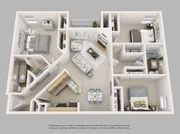 3 bedroom 2 bath floor plans park on clairmont apartments floor plans and models