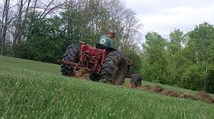 plowing with the ih 454 youtube
