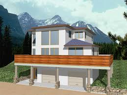 house plans sloped lot plan 012h 0022 find unique house plans home plans and floor