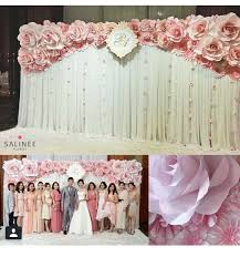 wedding backdrop logo paper flowers backdrop backdrop paper flowers