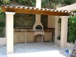 cuisine d été couverte cuisine d ete exterieure en construction couverte