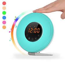 clock radio with night light sunrise alarm clock radio sunlight wake up light digital clock with