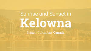 whens canadian thanksgiving sunrise and sunset times in kelowna