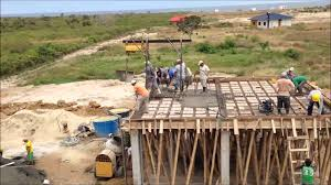 pouring the concrete roof youtube
