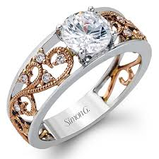 simon g engagement rings mr2115 platinum and gold engagement ring from simon g gold
