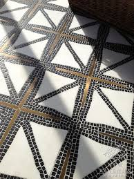 black gold and ivory tile slightly imperfect pattern be still