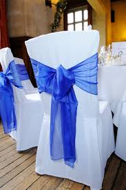 blue chair covers blue chair cover sash chair covers design
