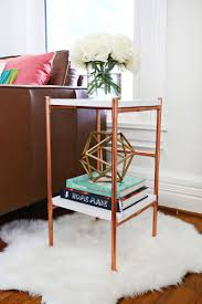 How To Make A Round End Table by Copper Pipe Side Table Diy U2013 A Beautiful Mess