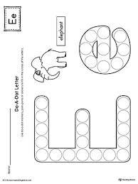 letter e do a dot worksheet myteachingstation com