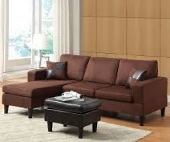 microfiber sectional sofa with ottoman foter