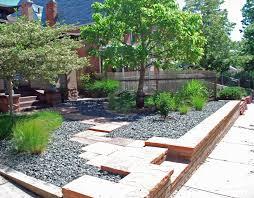 landscaping ideas front yard hill back landscape design of house