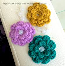 Free Pattern For Crochet Flower - all about crochet free pattern lovely flower crochet