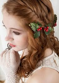 christmas hair accessories vine leaves and berry hairpiece