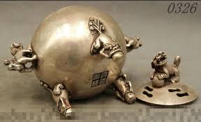 pixiu statue white copper silver fu foo dog lion pixiu statue incense