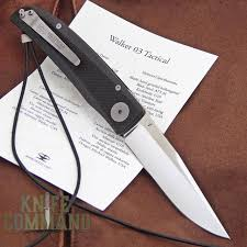 klotzli knives michael walker 03 tactical folding knife black walk