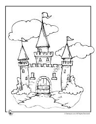 coloring pages castles draw bridge cinderella castle