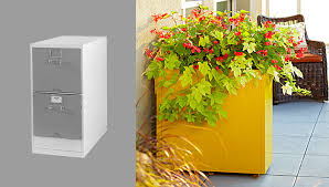 Yellow Metal Filing Cabinet Yellow Metal Filing Cabinet With File Cabinet Planter