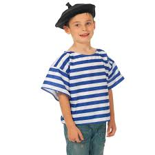 Costumes For Kids Amazon Com French T Shirt And Beret Costume For Kids Toys U0026 Games