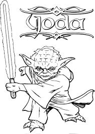 Coloriage Yoda gratuit à imprimer
