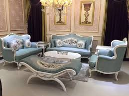 european style sofa set 4 pcs sf608 direct warehouse sale