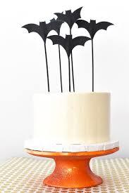 halloween decoration diy idea orange glitter cake stand