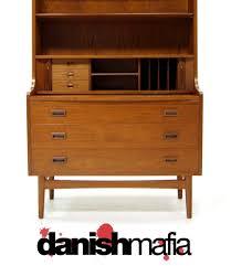Contemporary Secretary Desk by Danish Modern Teak Secretary Desk Credenza Bar Eames Danish Mafia