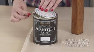how to use rust oleum gloss finish furniture paint youtube