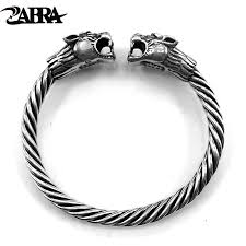 mens silver solid bracelet images Zabra solid 925 sterling silver 2 tigers 6mm screw open cuff jpg