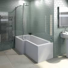 Shower Screens For Bath Orchard L Shaped Left Handed Shower Bath 1700mm With 5mm Shower